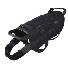 Military Tactical Police K9 Dog Vest Training Service Canine Molle Pouch Harness