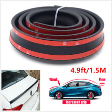 Universal Car Trunk Rear Roof Spoiler Lip Wing Sticker Protector Trim 1.5M Black