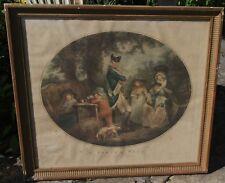Georges Morland  1763-1804   Gravure couleur  ancienne  st James's park  Anglais