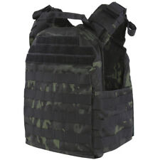 Condor Cyclone Plate Carrier Military Tactical MOLLE Vest D-rings MultiCam Black