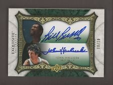 2007-08 UD Exquisite Bill Russell John Havlicek Dual AUTO 10/10 Celtics