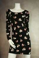 Ladies Miss Selfridge  Black Floral Dress size 10 NWT