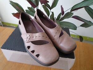 Ladies Hotter Mocha Nubuck Leather Comfort Shoes Size UK 6.5