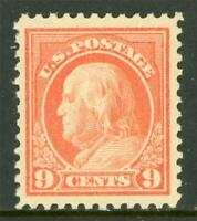 USA 1917 Washington 9¢ Unwmk Perf 11 Scott # 509 Mint Disturbed OG NH Z532