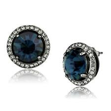 2820 STUD STUDS MONTANA BLUE SAPPHIRE SIMULATED DIAMOND EARRINGS WOMENS