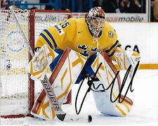 Sweden Jacob Markstrom Signed Autographed 8x10 NHL Photo COA D