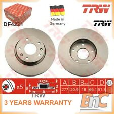2x FRONT BRAKE DISC SET LAND ROVER FREELANDER SOFT TOP LN FREELANDER LN TRW OEM