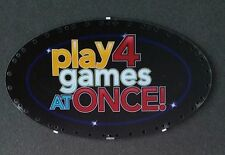 IGT Slot Machine Oval Topper Insert PLAY 4 GAMES AT ONCE
