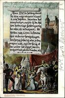Weibertreu bei Weinsberg 1905 alte Postkarte Burg Ritter Zelte anno 1140 Szene
