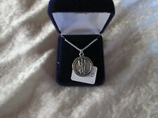 "Saint Christopher medal 18"" chain necklace"