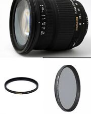 Sigma DC 17-70mm f/2.8-4.5 Macro Lens For Canon,with 72mm UV and CPL FILTERS