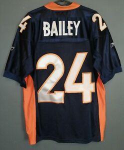 MENS REEBOK CHAMP BAILEY #24 DENVER BRONCOS NFL FOOTBALL SHIRT JERSEY SIZE XL 48