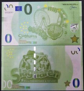 0 euro souvenir biljet Slagharen themapark & resort memoeuro €0 rollercoaster