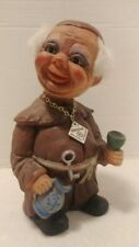 Vintage 1960's Heico West Germany Large Monk Bobblehead Nodder Troll With Tag