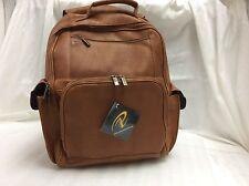 Pangea Genuine Tan Leather NBA Toronto Raptors Large Computer Backpack