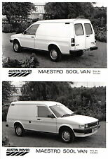 Austin Maestro 500L Van x 2 Original b&w Press Photos circa 1985
