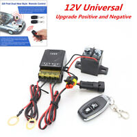 Integrated Wireless Remote 12V Car Battery Disconnect Cut Off Master Switch Kit