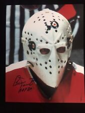 BERNIE PARENT AUTOGRAPHED PHILADELPHIA FLYERS 8X10 PHOTO W/COA HOF 84 INSCRIP #8
