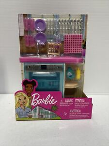Barbie Indoor Furniture Set KITCHEN DISHWASHER + Accessories Pack  New