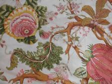 2.5 Yard Floral Screen Print Indian Handmade Cotton Natural Sanganeri Print