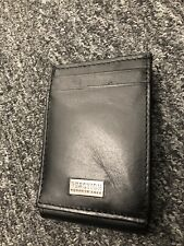 $76 KENNETH COLE MENS BLACK LEATHER BIFOLD 9CC ID CREDIT CARD PASSCASE WALLET