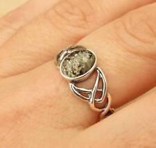Anelli di lusso verde in argento sterling ambra