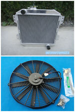 Aluminum Radiator & Fan For FORD CAPRI RS/ESCORT SUPERSPEED MK1 ESSEX V6 2.6/3L