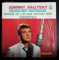"CD EP Johnny Hallyday  "" Excuse Moi Partenaire "" (Avec Code Barre) Comme Neuf"