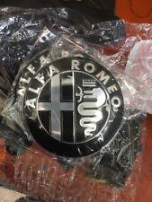2x Stemma ALFA ROMEO 147 156 159 166 MITO GIULIETTA Logo Fregio nero Black