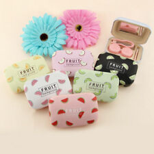 1 Piece Young Girl Accessory Cute Fruit Pattern Contact Lens Box with Mirror