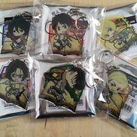 Attack on Titan Acrylic Keychain Animega Ehon Eren Armin Mikasa Levi