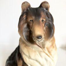 Collie Dog Figurine Ceramic 6.5� Erich Stauffer Vtg Mid Century Bone China Japan