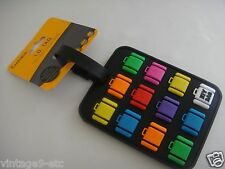New Naftali Travel Luggage Rubber Tag w/ Embellished Multicolor Luggage Decor!