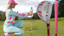 """Women's iDrive Golf Club Pink Hybrid #9 Lady Flex Rescue Utility """"L"""" Flex Club"""