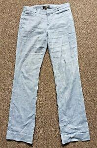 BANANA REPUBLIC Womens Logan Blue Trousers Denim Style 32W 33L Tall