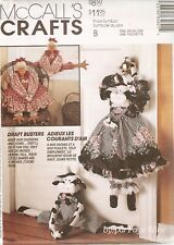 """McCalls Craft Pattern 6562 CHICKEN COW DRAFT BUSTERS 25"""" TALL UNCUT"""