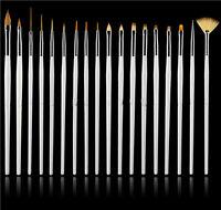Hot Nail Art 15pcs UV Gel Design Pen Painting Brush Set Drawing Painting Pen