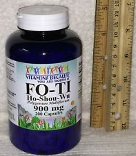 Fo-Ti Root (Ho-Shou-Wu)/ Vitamins Because  > NO PRESERVATIVES, 200 ct