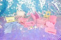 Vintage My Little Pony LULLABY NURSERY Parts Crib Buggy Swing Cradle G1 MLP I066