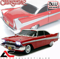 AUTOWORLD AWSS102 1:18 1958 PLYMOUTH FURY CHRISTINE NIGHTTIME VERSION W/ LIGHTS