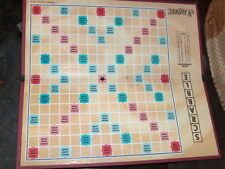 1 SCRABBLE BOARD * GAME PIECES / CRAFTS Vintage Excellent Cond  yellow