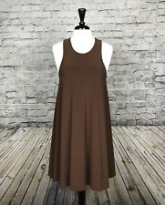 Norma Kamali Timeless Brown Racerback Dress Sleeveless Size Medium Stretch