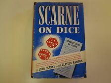 Signed Scarne on Dice Hbdj 1945 Wwii Casino Street Craps Gambling Cheats
