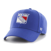 New York Rangers NHL Hockey Blue Red 47 Brand MVP Adjustable Cap Hat