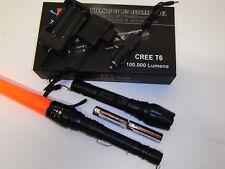 1 torcia led cree T6 2000 lumen full kit 7,4 v con  2 batterie 3,7 v in serie