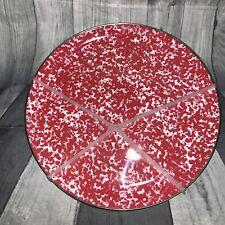 Set of 4 Tommy Bahama Melamine Dinner Plates BPA Free RED White Speckled NEW