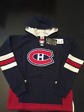 Montreal Canadiens NEW Youth Small Hooded Sweatshirt w/ Lace Pulls . NHL Hockey