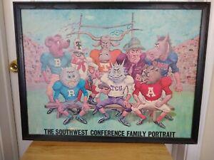 1968 Southwest Conference Mascot Family Portrait  24 x 18 TCU TEXAS SMU