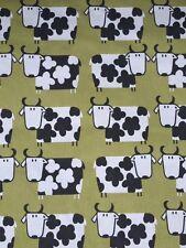 Moo Moo Kiwi Fabric Remnant 100% Cotton 50cm x 40cm