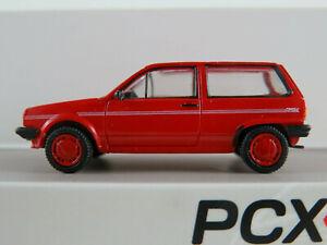 PCX87 870000 VW Polo II Fox (1986) in tornadorot 1:87/H0 NEU/OVP